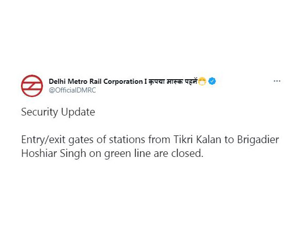 Delhi Metro Rail Corporation's tweet