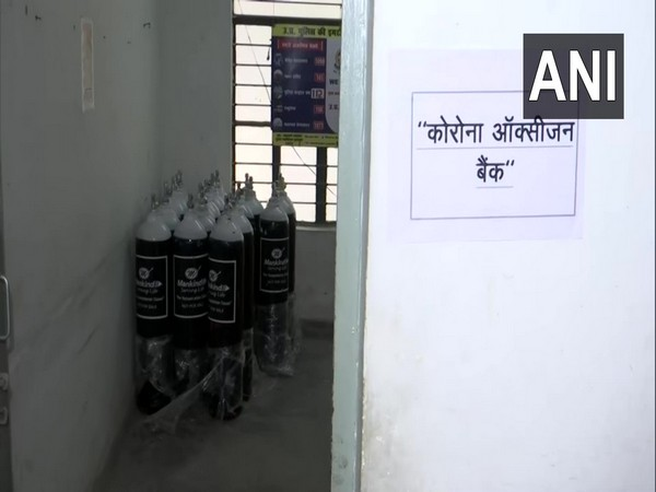 'Corona Oxygen Bank' started by Lucknow police. (Photo/ ANI)