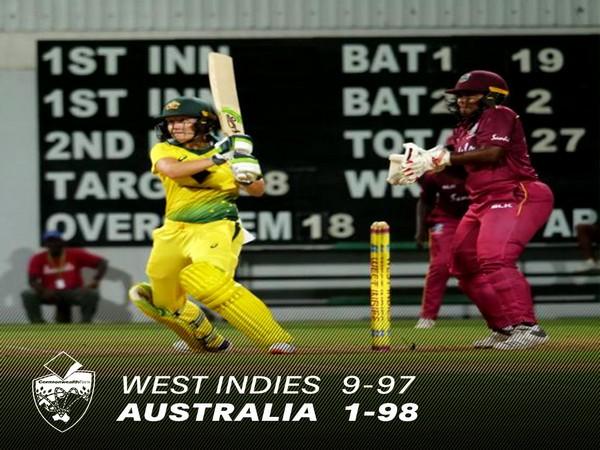 Australia defeat West Indies  Image Credit: Australian Women's Cricket Team Twitter