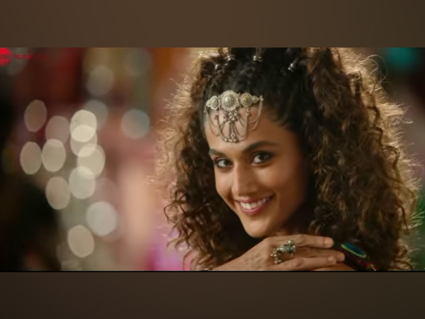 Taapsee Pannu in a still from 'Ghani Cool Chori' teaser