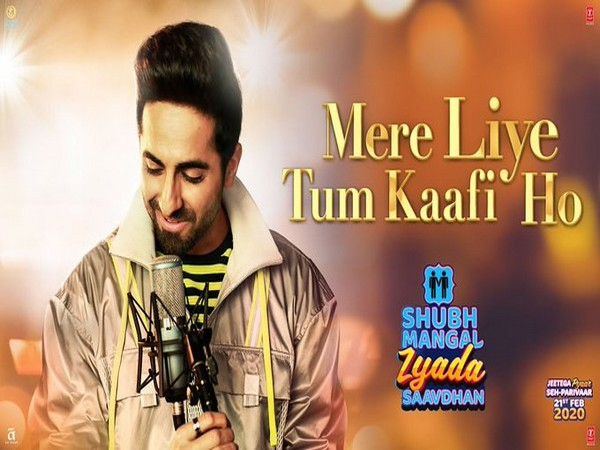 A poster of the song featuring Ayushmann Khurrana (Image source: Twitter)