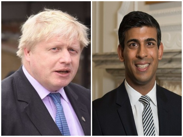 UK Prime Minister Boris Johnson and Rishi Sunak, Chancellor of the Exchequer (Finance Minister).
