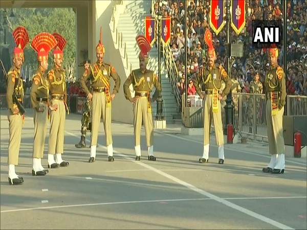 Although a daily occurrence, this border ceremony has a distinct flavor to it on the occasion of the Republic Day (Picture Courtesy: ANI Twitter)