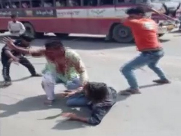 In the video waiters can be seen beating the Army personnel at hotel in Baraut on Sunday