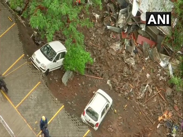 Visual from the wall collapse site in Pune.