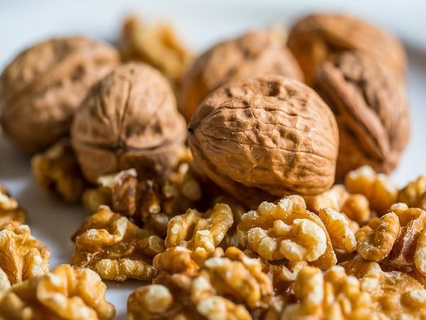 Walnuts contain Omega-3 fatty acids and polyphenols.