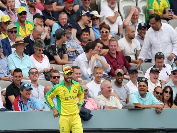 David Warner standing at the boundary during the World Cup match against England at the Lord's