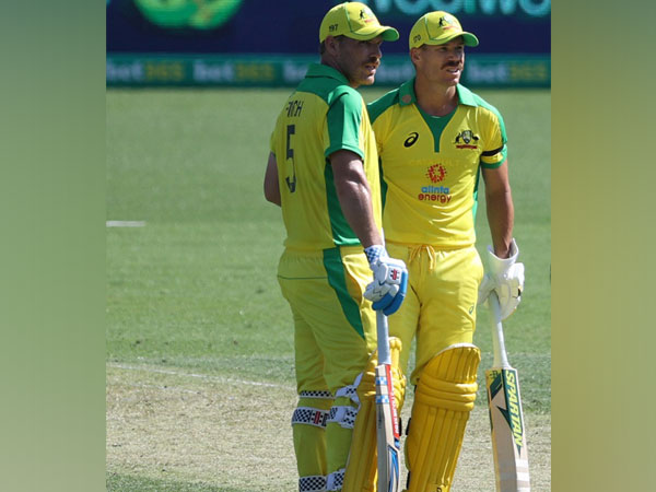 Australian batsmen Aaron Finch and David Warner