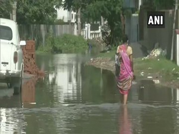 Waterlogging in parts of Patna after incessant rainfall.