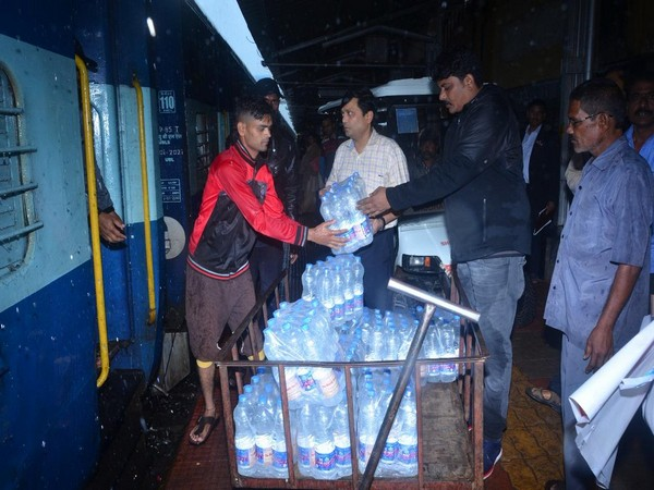 South Western Railway provided food and water to flood stranded people in Karnataka