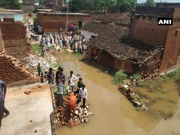 The floodwater not only damaged crops in the fields but also entered homes of the locals. (Photo: ANI)