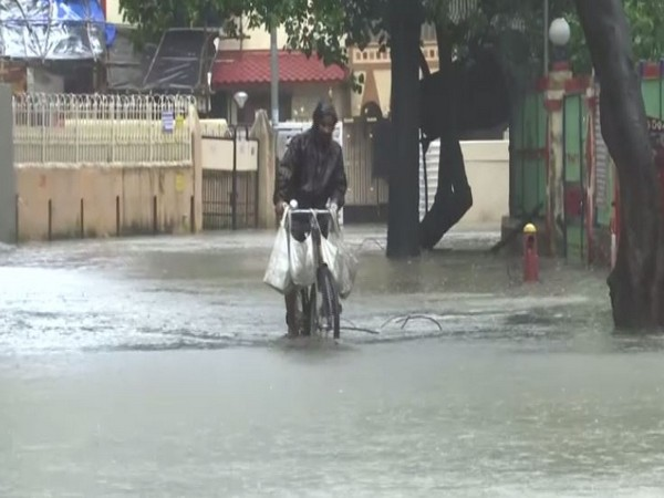 The waterlogged area of Chembur on Sunday in Maharashtra. Photo/ANI