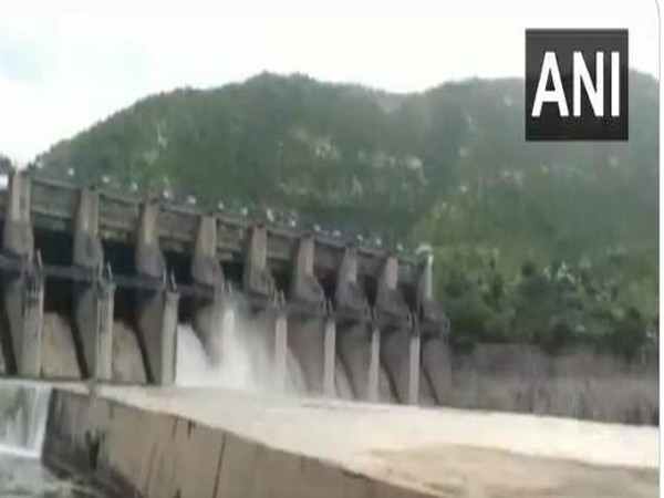 10 gates of Andhra's Somasila Reservoir were lifted to release floodwater.