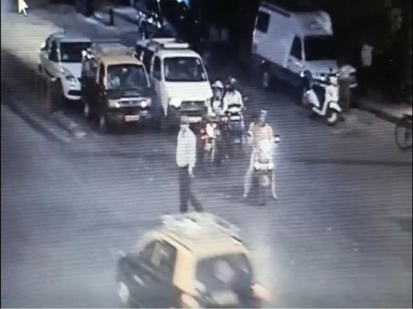 A grab of the CCTV footage