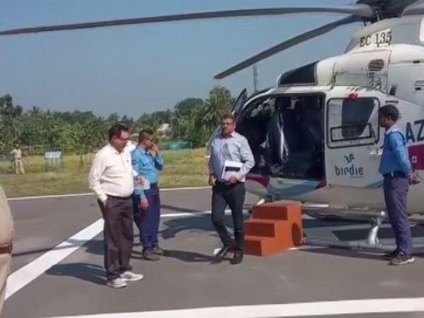 Central government officials visit cyclone-affected areas in Basirhat. Photo/ANI