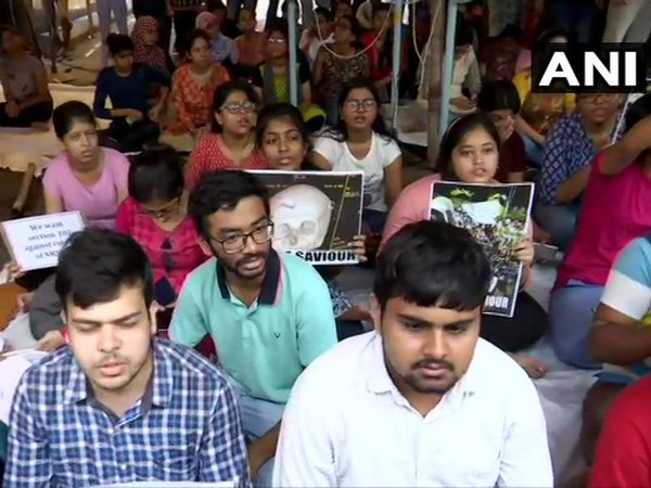 Junior doctors' strike at a Kolkata Hospital. (File Photo)