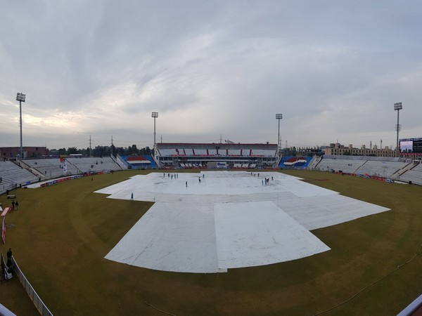 Wet Outfield. Image courtesy: Pakistan Cricket's twitter