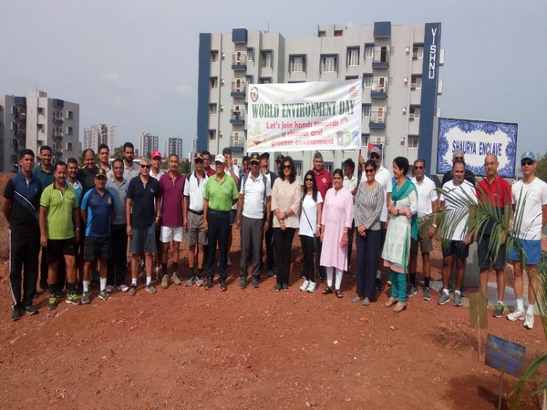 Naval personnel celebrated World Environment Day along with their families