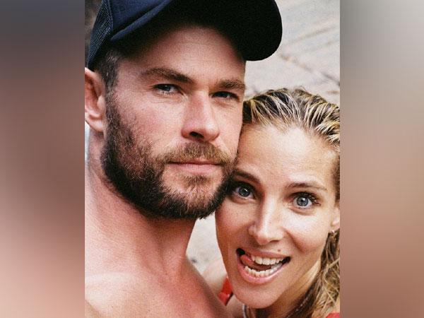 Chris Hemsworth with wife Elsa (Image source: Instagram)