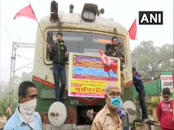 A visual from the protest in West Bengal on Tuesday. Photo/ANI