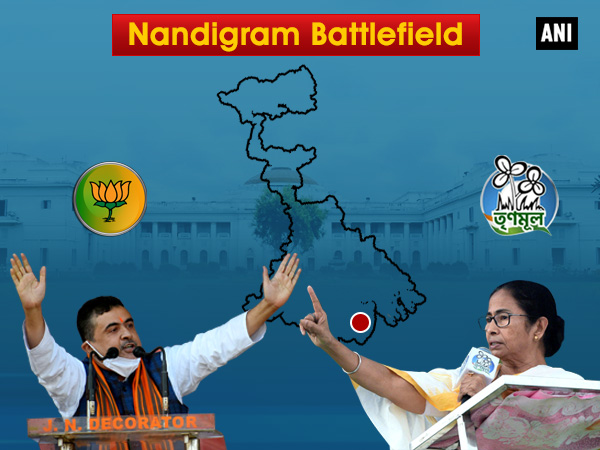 Suvendu Adhikari toured polling booth in Nandigram all day while Mamata Banerjee ventured out after 1 pm