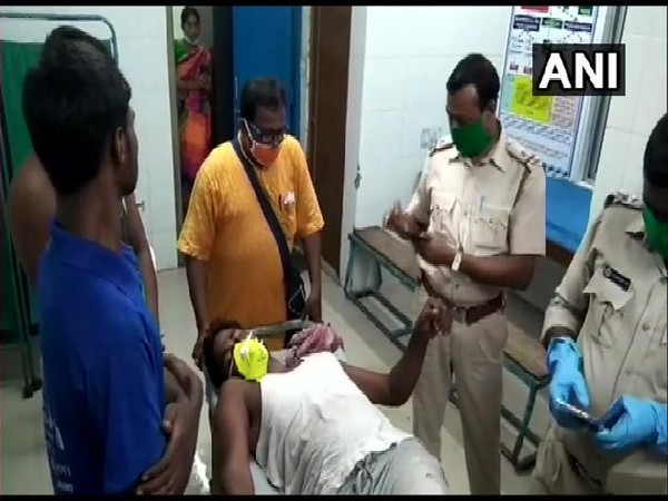 Injured BJP office bearer at hospital. [Photo/ANI]