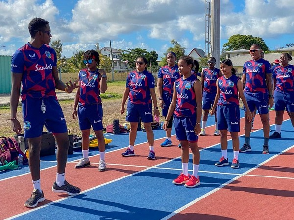 West Indies women in the high-performance camp (Image: Windies Cricket )