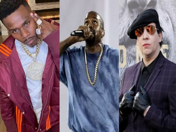 DaBaby, Kanye West and Marilyn Manson