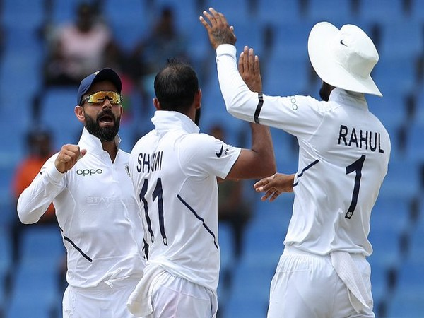 India restricts West Indies to 222 after scoring 297 in the first innings of the second Test. (Photo/BCCI Twitter)