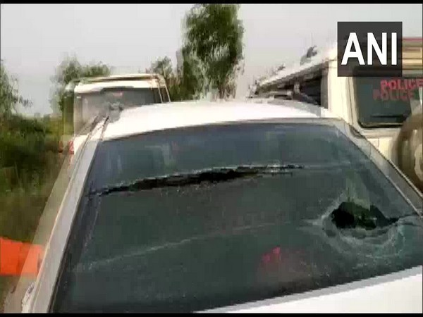 A picture of the car allegedly attacked by TMC workers.