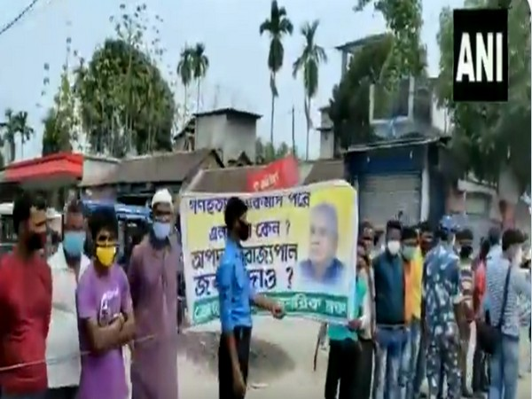 West Bengal Governor shown black flags in Cooch Behar while visiting post-poll violence affected areas (Photo/ANI)