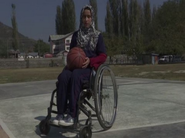 Ishrat Rasheed, first international specially-abled female basketball player from the valley. Photo/ANI