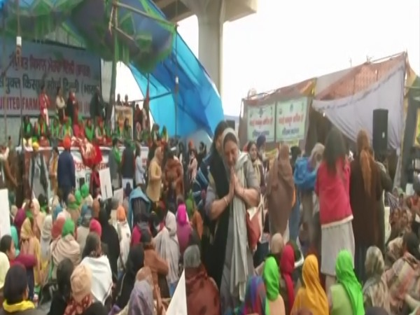 Women Farmers' Day celebrations at Tikri border