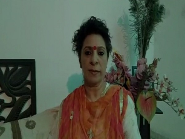 Rita Bhatia, member of State Commission for Women speaking to ANI in Faridabad, Haryana on Tuesday Photo/ANI.