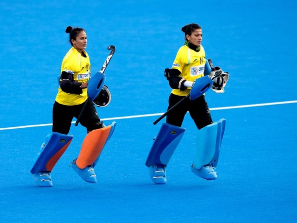 Indian women goalkeepers in action (Photo/Hockey India Twitter)
