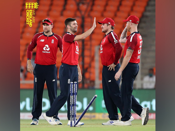 Mark Wood celebrates after dismissing KL Rahul (Image: England Cricket)