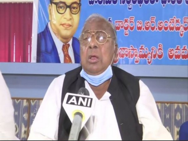 Senior Congress leader V Hanumantha Rao speaking to ANI in Hyderabad on Friday.