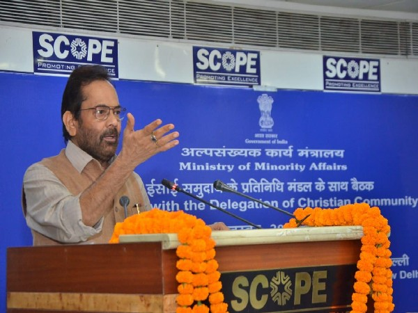 Union Minister for Minority Affairs Mukhtar Abbas Naqvi at the event (Photo/PIB)