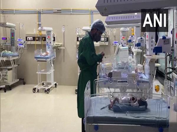 Visual of the maternity ward in Nashik Civil Hospital (Photo/ANI)