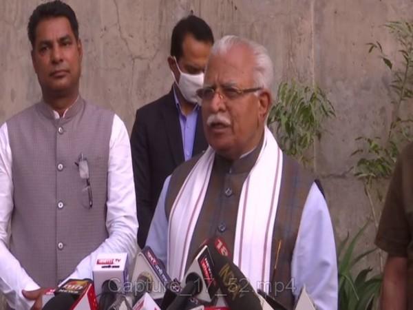 Haryana Chief Minister Manohar Lal Khattar (Photo/ANI)