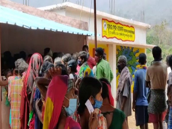 Visual of elections being conducted at Koraput (Photo/ANI)