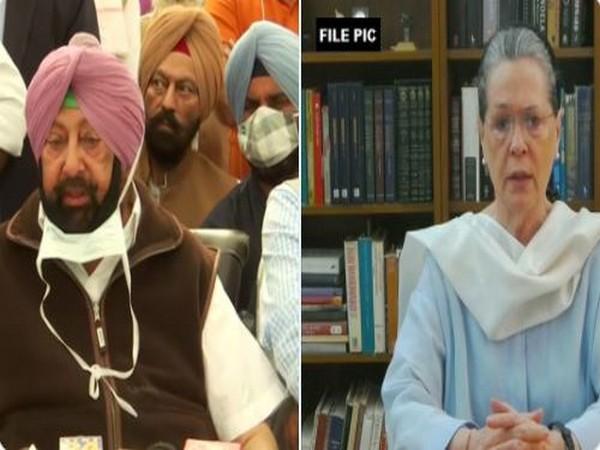 Punjab Chief Minister Captain Amarinder Singh and Congress President Sonia Gandhi (Photo/ANI)