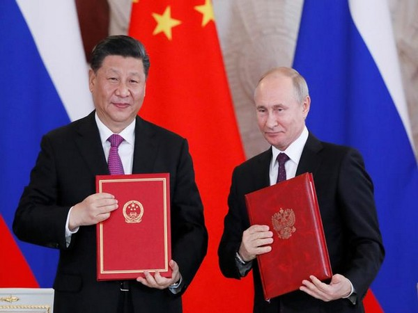 Chinese President Xi Jinping and his Russian counterpart Vladimir Putin in Moscow on June 5