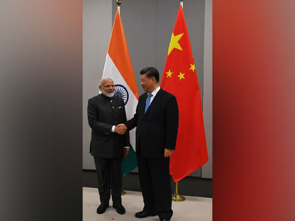 Prime Minister Narendra Modi with Chinese President Xi Jinping in Brazil on Wednesday