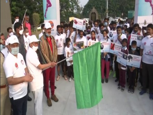Telangana State Home Minister Mohammed Mahmood Ali flagged 'Virtual Run for Road Safety' awareness campaign on Saturday in Hyderabad