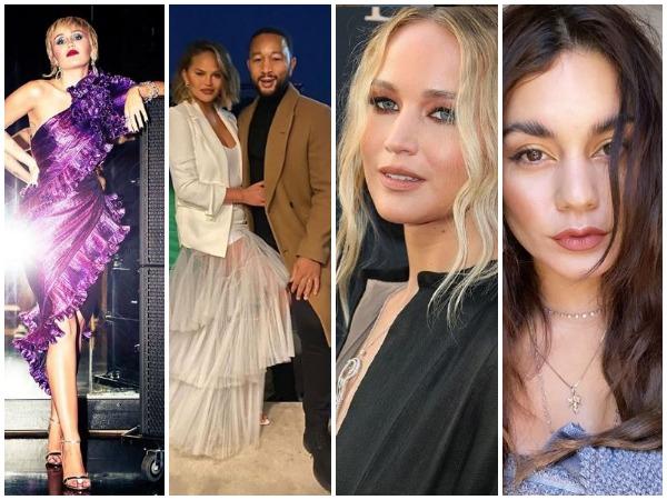 Miley Cyrus, John Legend and Chrissy Teigen, Jennifer Lawrence, Venessa Hudgens (Image courtesy: Instagram)