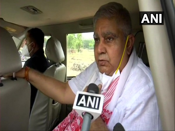 West Bengal Governor Jagdeep Dhankhar speaking to ANI on Saturday.
