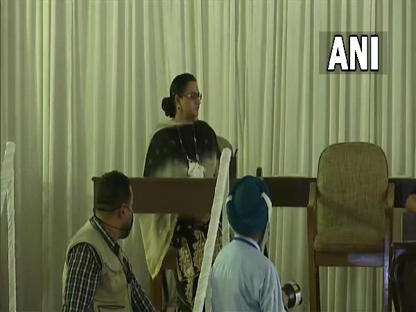 Razia Sultana at oath taking ceremony at Raj Bhavan in Chandigarh on Sunday. (Photo/ANI)