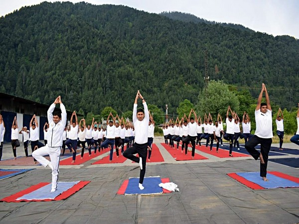 CISF designates Nobel Force to conduct yoga demonstration on the eve of World Yoga Day 2019 in Uri, Jammu and Kashmir on Thursday.