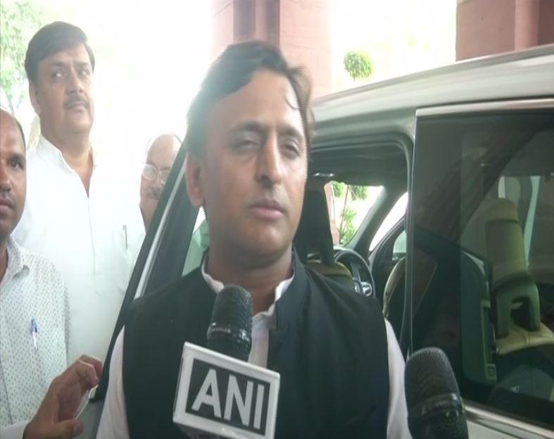 Samajwadi Party leader Akhilesh Yadav speaking to ANI in New Delhi on Wednesday. Photo/ANI